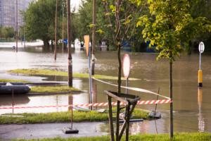 Überschwemmung und Hochwasser